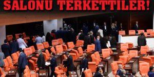 HDP' Lİ VEKİLLER SALONU TERK ETTİLER