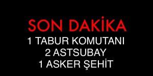 1 TABUR MOMUTANI,2 ASTSUBAY, 1 ASKER ŞEHİT