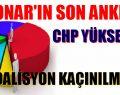 CHP OYLARI YÜKSELİYOR. KOALİSYON KAÇINILMAZ