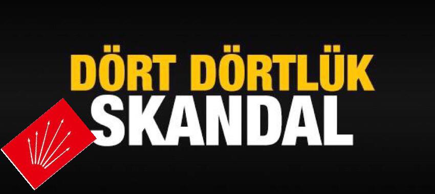 CHP SARIYERDE DÖRT DÖRTLÜK SKANDAL