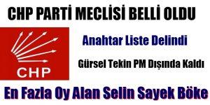 CHP PARTİ MECLİSİ ÜYELERİ BELLİ OLDU
