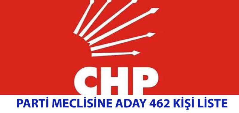 462 CHP'Lİ PARTİ MECLİSİNE ADAY OLDU