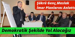 HUZUR MAHALLESİ, MASLAK İMAR PLANLARI ANLATILDI