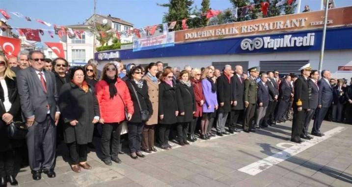 ÇANAKKALE'NİN KAHRAMAN ŞEHİTLERİ SARIYER'DE ANILDI
