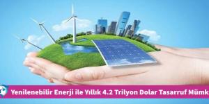 Yenilenebilir Enerji ile Yıllık 4.2 Trilyon Dolar Tasarruf Mümkün