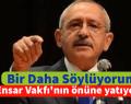 Kılıçdaroğlu: Bir daha söylüyorum Ensar Vakfı'nın önüne yatıyorsun