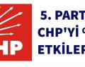 5. PARTİ CHP'Yİ %5 ETKİLER