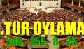 1.Tur Oylama 348 kabul, 155 ret, 8 çekimser, 25 boş oy