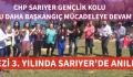 Gezi'nin 3. Yılı CHP'li Gençler Tarafından Anıldı