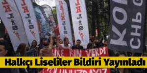 CHP'Lİ LİSELİLER BİLDİRİ YAYINLADI