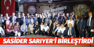 """SASİDER""SARIYER'İ İFTARDA BİRLEŞTİRDİ"