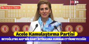 BEYOĞLU'NU AKP'NİN RANT İHTİRASINA KURBAN ETTİRMEYECEĞİZ