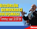 CHP ÖZGÜRLÜK VE DEMOKRASİ MİTİNGİ