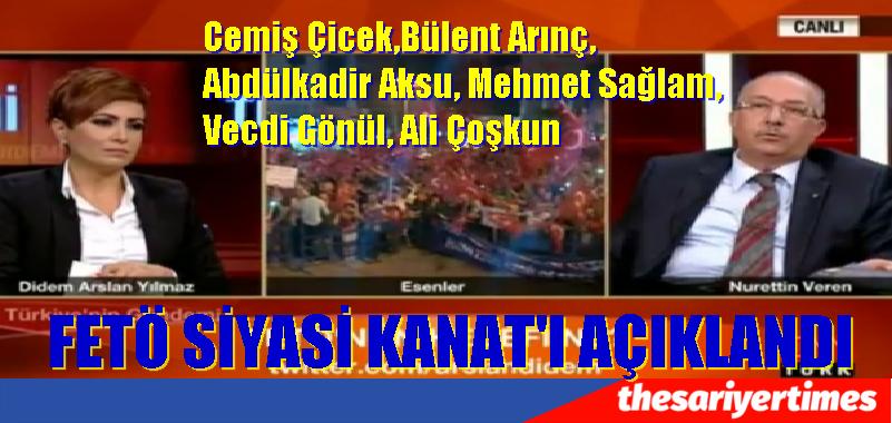 CNN'de FETÖ SİYASİ KANATI  AÇIKLANDI