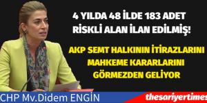 DİDEM ENGİN: AKP RİSKLİ ALAN KARARLARI İLE SİYASİ VE EKONOMİK RANT PEŞİNDE KOŞUYOR