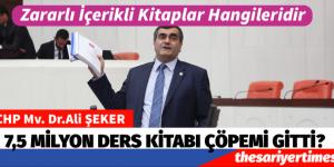 """CHP İstanbul Milletvekili Ali Şeker: """"7.5 milyon ders kitabı çöpe mi gitti?"""""""
