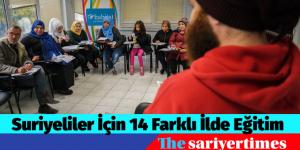Suriyeliler İçin 14 Farklı İlde Eğitim