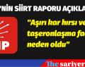 CHP'NİN SİİRT RAPORU AÇIKLANDI