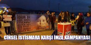 CHP'den İstismar ve tecavüz yasasına karşı imza kampanyası.