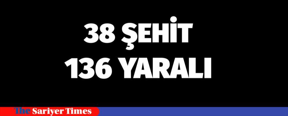 BEŞİKTAŞ'TA 38 ŞEHİT