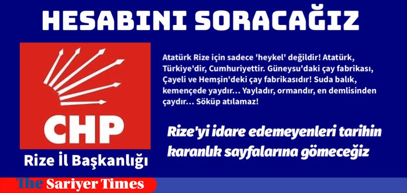"""RİZE'DE İSYAN """"Potomya Şehitlerini Anıyor"""" Cumhuriyet'e karşı ayaklanan ve idam edilenler kutlandı"""