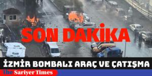 """""""İZMİR'DE TERÖR"""" BOMBALI ARAÇ PATLADI"""