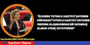 """Didem ENGİN, """"Ülkemizde 146 tutuklu gazeteci var, dünyada ise toplam 348. E"""