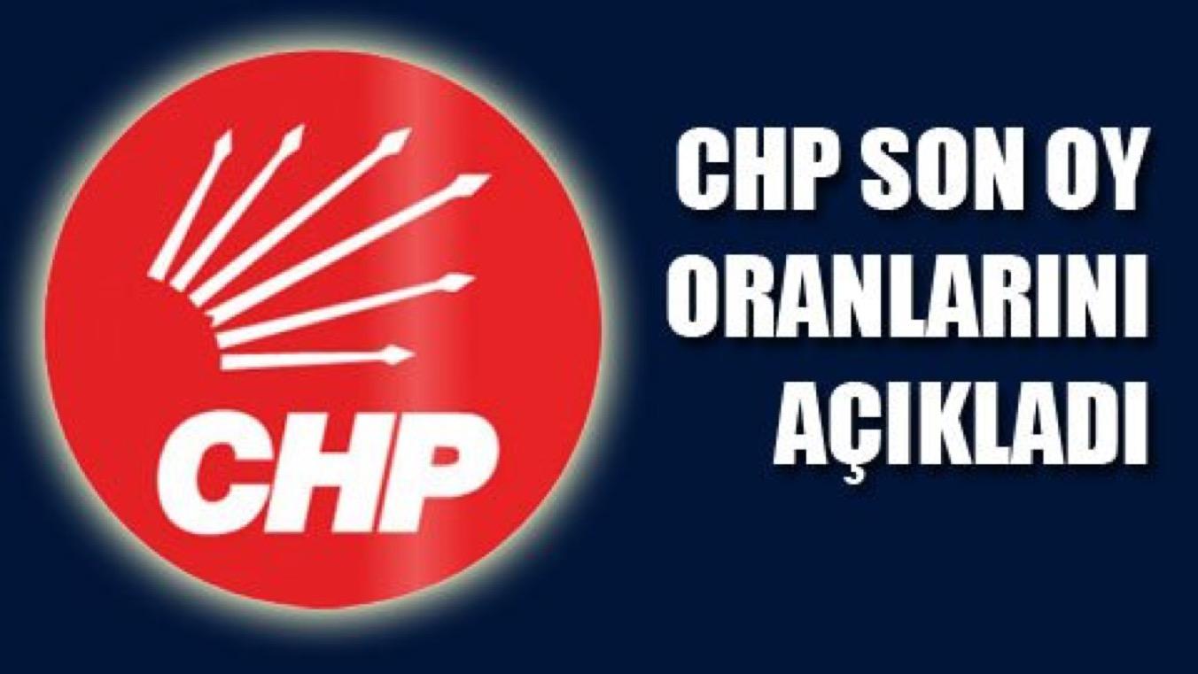 CHP SON OY ORANLARINI AÇIKLADI