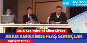 """AKAM"" REFERANDUM ANKETİNİ SARIYER'DE AÇIKLADI"