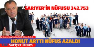 SARIYER'DE KONUT ARTTI NÜFUS AZALDI