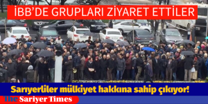 Sarıyerliler mülkiyet hakkına sahip çıkıyor!