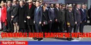 18 Mart Çanakkale Şehitleri Sarıyer'de Anıldı