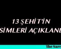 ŞIRNAK ŞEHİTLERİNİN İSİMLERİ AÇIKLANDI