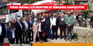 PINAR MAHALLESİ MUHTARLIK BİNASINA KAVUŞUYOR
