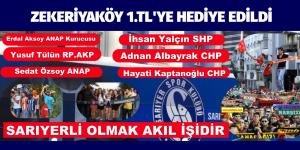 """SARIYER SPOR KULÜBÜNE """"HAİNLİK DEĞİL""""  HİZMET EDİLMİŞTİR"""