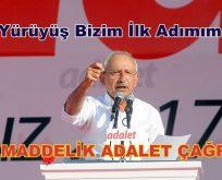 Kılıçdaroğlu: Bu yürüyüş bizim ilk adımımızdır