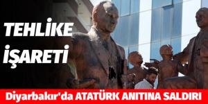 Diyarbakır'da ATATÜRK ANITINA SALDIRI