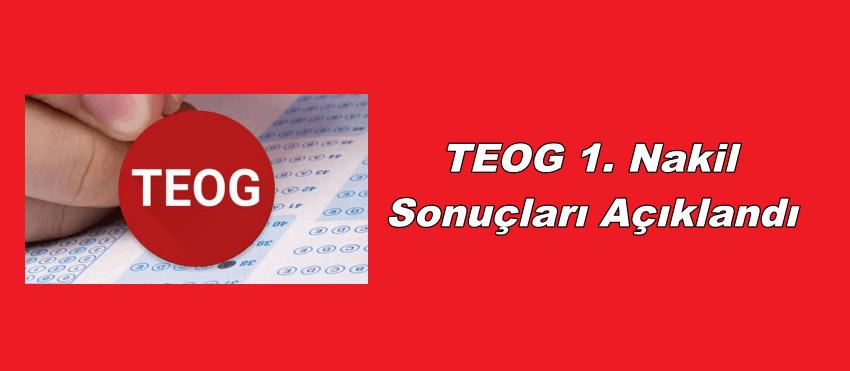 TEOG 1. nakil sonuçları açıklandı