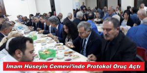 İmam Hüseyin Cemevi'inde Protokol Oruç Açtı