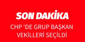 CHP'DE GRUP BAŞKAN VEKİLLERİ BELLİ OLDU