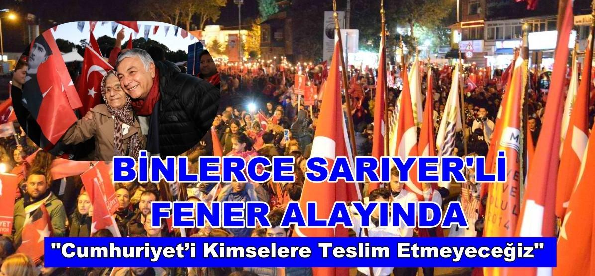 BİNLERCE SARIYERLİ BAYRAĞINI KAPIP GELDİ