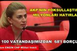 """YOKSUL VATANDAŞLARIMIZIN SAYISI 16 MİLYONU AŞTI"""""""