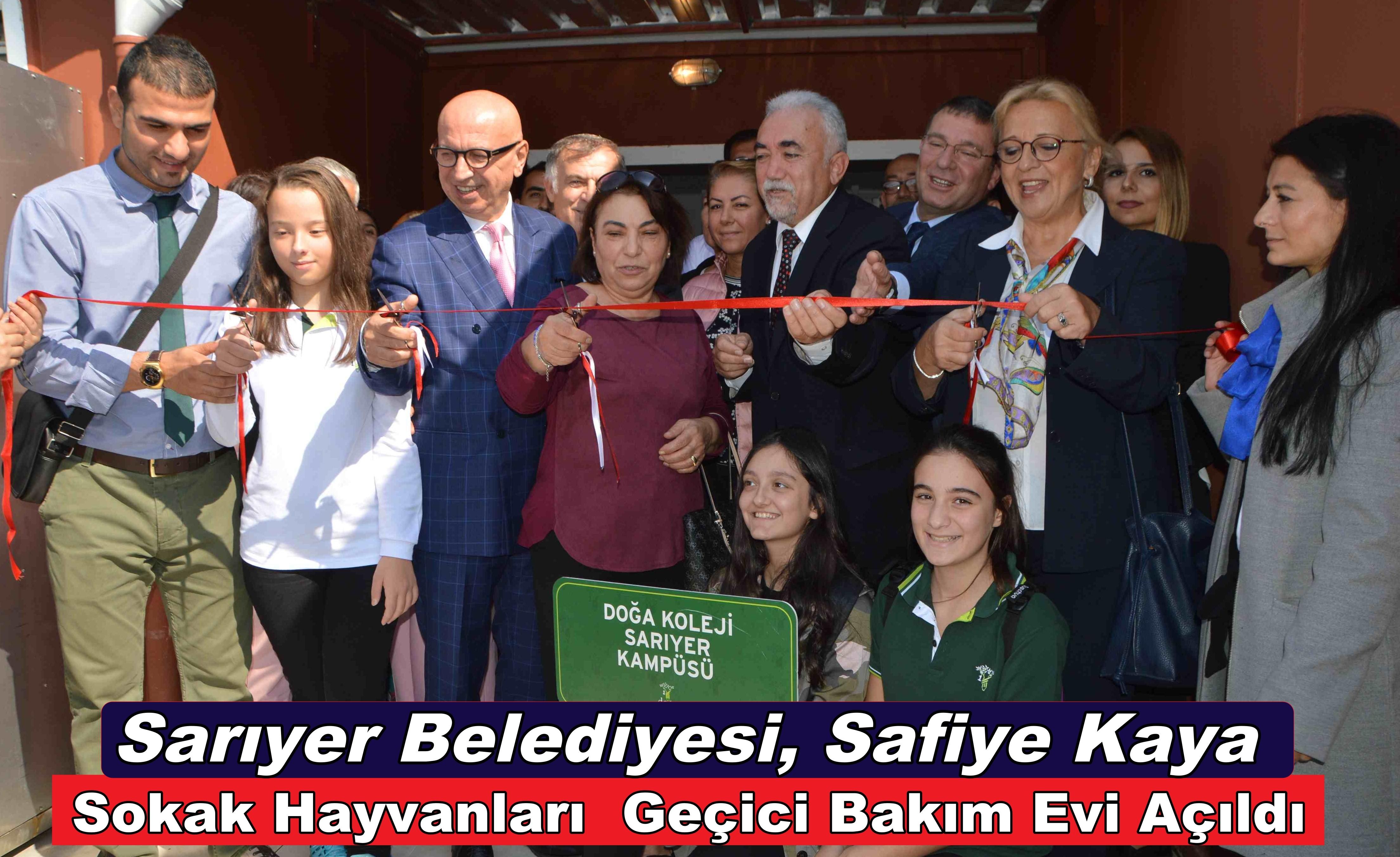 Sarıyer Belediyesi Safiye Kaya Sokak Hayvanları Geçici Bakım Evi Açıldı