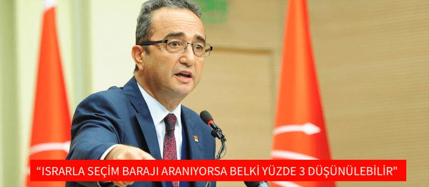"""""""ISRARLA SEÇİM BARAJI ARANIYORSA BELKİ YÜZDE 3 DÜŞÜNÜLEBİLİR"""""""