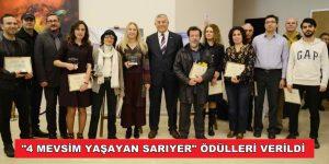 """""""4 MEVSİM YAŞAYAN SARIYER"""" ÖDÜLLERİ VERİLDİ"""