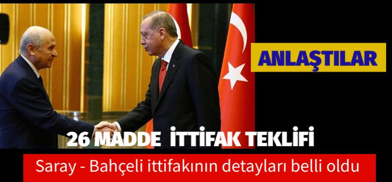 AKP -MHP SEÇİM İTTİFAKININ MADDELERİ AÇIKLANDI
