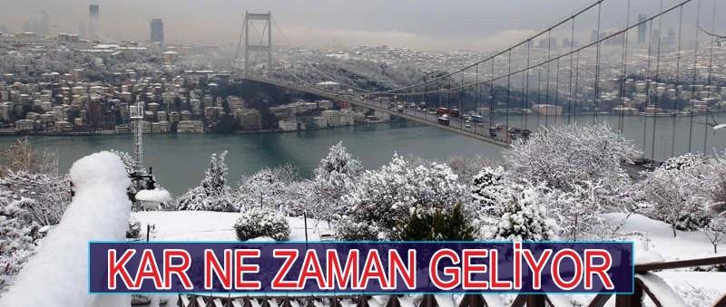 İSTANBUL'DA KAR BEKLENİYOR