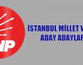 CHP İSTANBUL MİLLET VEKİLİ ADAY ADAYLARI