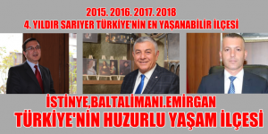 TÜRKİYE'DE SARIYER YAŞANABİLİR 4. İLÇE