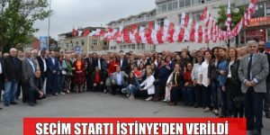 CHP SARIYER SEÇİM STARTINI YİNE İSTİNYE'DEN VERDİ